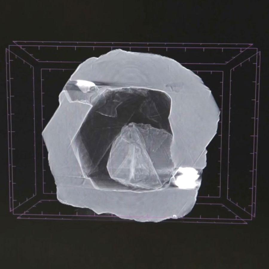 Η ακτινογραφία του διαμαντιού που δόθηκε στη δημοσιότητα από την εταιρεία