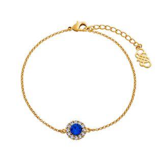 Βραχιόλι Lily and Rose Celeste Gold / Sapphire Blue