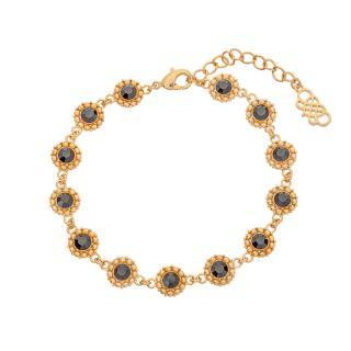 Βραχιόλι Lily and Rose Petite Kate Crystal Jet Gold / Black