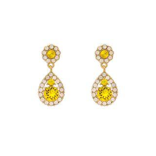 Σκουλαρίκια δάκρυ Lily and Rose Petite Sofia Gold / Sunshine