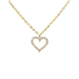 Κολιέ PDPAOLA White Heart Gold