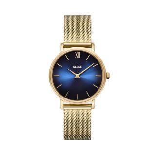 Ρολόι Cluse Minuit Mesh Deep Gold / Blue
