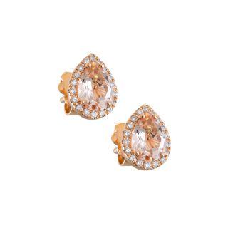 Σκουλαρίκια με μοργκανίτη