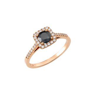 Δαχτυλίδι με μαύρο διαμάντι