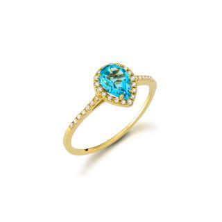 Δαχτυλίδι με τοπάζι