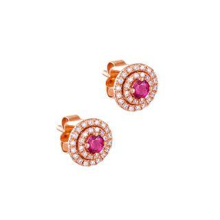 Σκουλαρίκια με ρουμπίνι