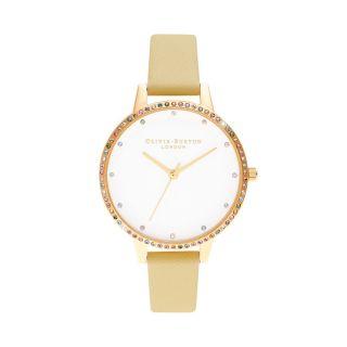 Olivia Burton Rainbow Bezel, Sunshine & Gold Bracelet