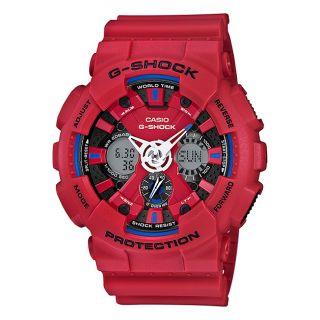 Casio G-Shock Anadigi Red Rubber Strap