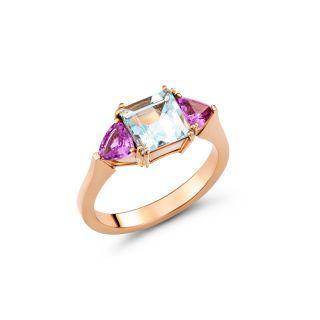 Δαχτυλίδι με ακουμαρίνα