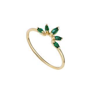 Δαχτυλίδι με σμαράγδι