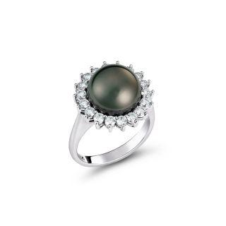 Δαχτυλίδι με μαργαριτάρια & διαμάντια