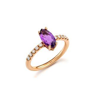 Δαχτυλίδι με αμέθυστο
