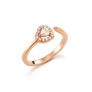 Δαχτυλίδι καρδιά με διαμάντια