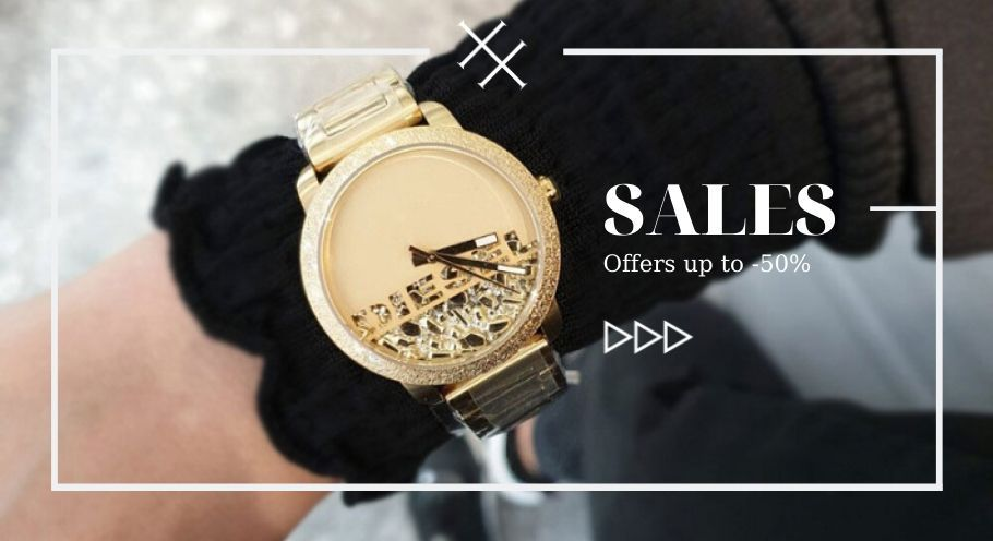 Sales up to -70% in watches and jewelry