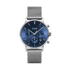 Cluse Aravis Chronograph Silver / Dark Blue