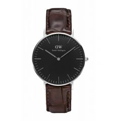 Daniel Wellington Classic Black York 36mm Silver