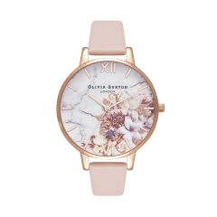 Olivia Burton Marble Floral Nude Peach & Rose Gold