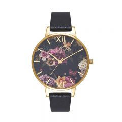 Olivia Burton Dark Bouquet Black & Gold