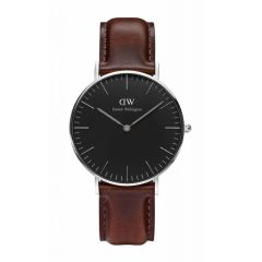 Daniel Wellington Classic Black Bristol 36mm Silver