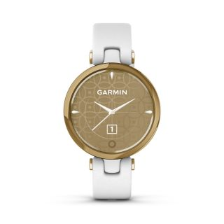 Garmin Lily Classic Light Gold & White Leather