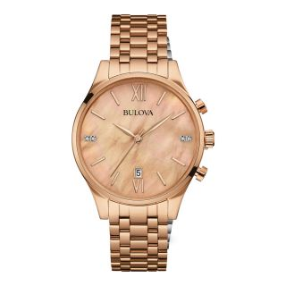Bulova Diamond Rose Gold Mother of Pearl