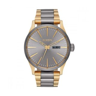 Nixon Sentry SS Two Tone Gunmetal Gold