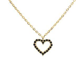 Κολιέ PDPAOLA Black Heart Gold