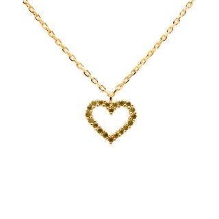 Κολιέ PDPAOLA Olive Heart Gold
