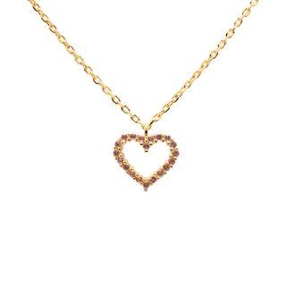 Κολιέ PDPAOLA Lavender Heart Gold