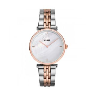 Cluse Triomphe Rose Gold, White pearl