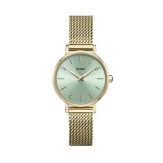 Ρολόι Cluse La Boheme Petite Mesh Gold / Green