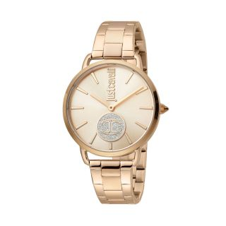 Just Cavalli Logo Rose Gold