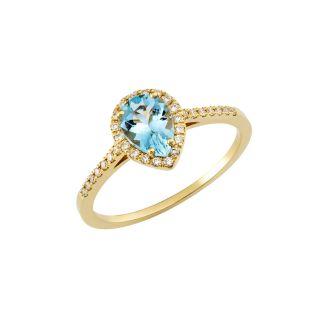 Δαχτυλίδι με ακουαμαρίνα