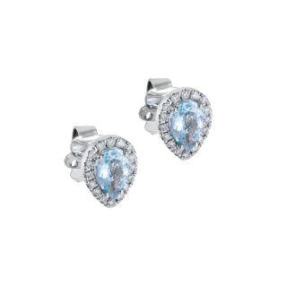 Σκουλαρίκια με ακουαμαρίνα