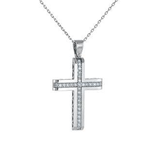 Σταυρός με διαμάντι