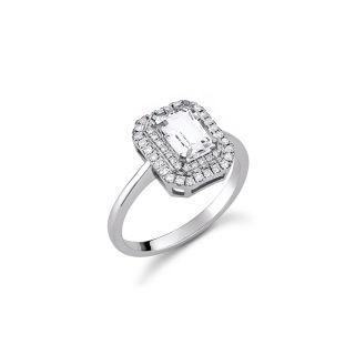 Δαχτυλίδι με λευκό τοπάζι