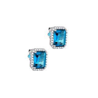 Σκουλαρίκια με μπλε τοπάζι