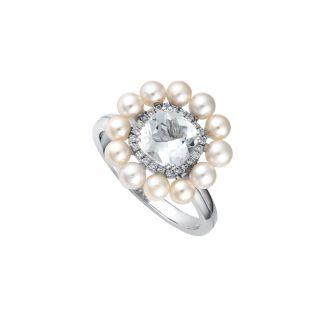 Δαχτυλίδι με μαργαριτάρια & τοπάζι