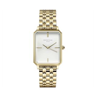 Rosefield The Elles White Sunray Steel Gold 22mm
