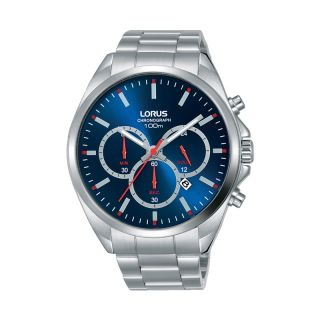 Lorus Sports Date Silver Blue / Red