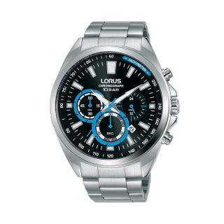 Lorus Classic Date Chrono Silver / Black Blue
