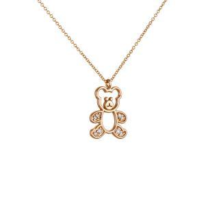 Κολιέ αρκουδάκι με διαμάντια