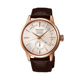 Seiko Presage Date Automatic Brown Leather