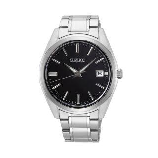 Seiko Classic Date Silver / Black