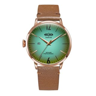 Welder Moody Rose Gold/Brown Leather Strap