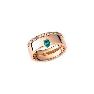 Δαχτυλίδι με διαμάντια & σμαραγδι