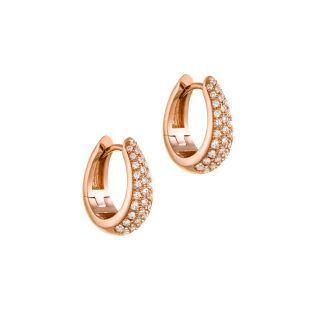 Σκουλαρίκια κρίκοι με διαμαντια