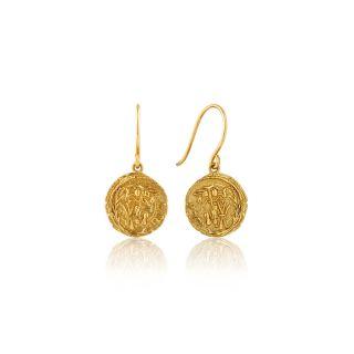 Σκουλαρίκια Κρίκοι Ania Haie Emblem Hook Gold