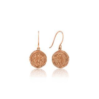 Σκουλαρίκια Κρίκοι Ania Haie Emblem Hook Rose Gold