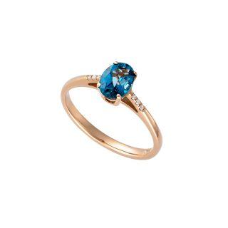 Δαχτυλίδι με μπλε τοπάζι